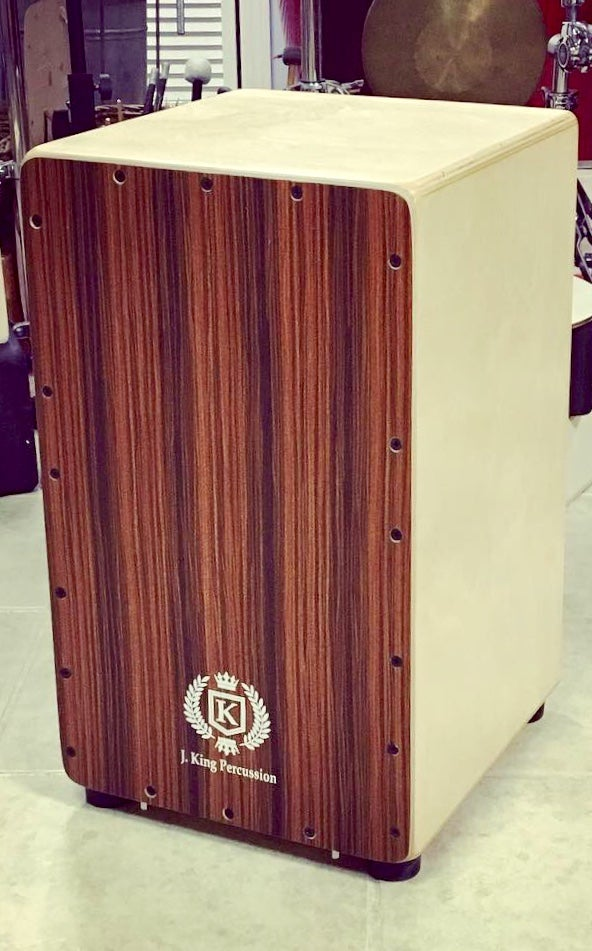 Image of Professional Cajon w/Drum Key Adjustable String Tension - Rosewood & Birch