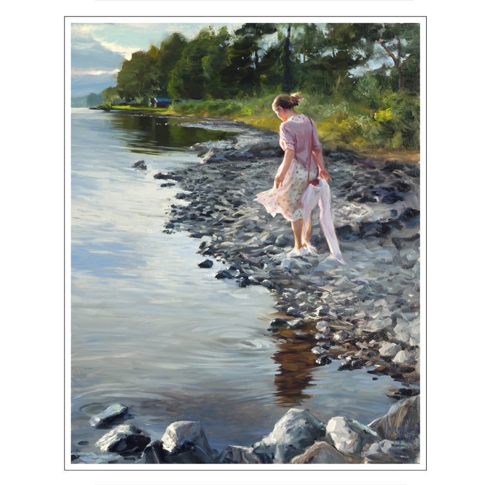 "Image of PRINT ON CANVAS ""WALKING NEAR RATTVIK"""
