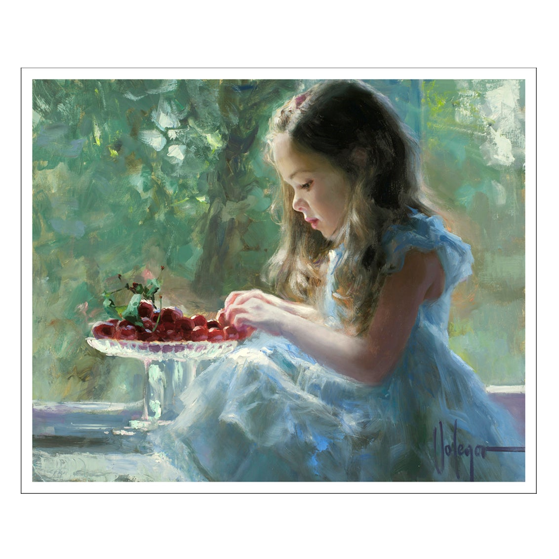 "Image of PRINT ON CANVAS ""CHERRIES"""