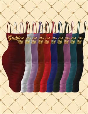 Image of Goddess Spaghetti Strap Bodycon Midi Dress