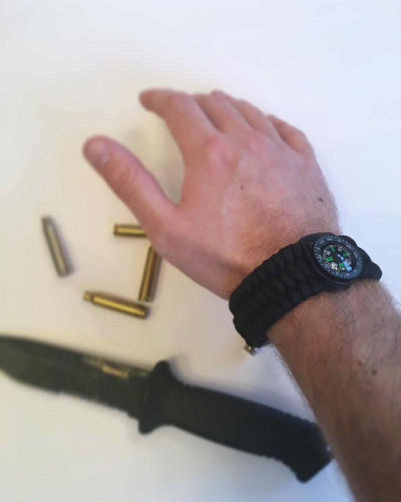 Image of KMP 'SURVIVAL' WRISTBAND (BLACK)