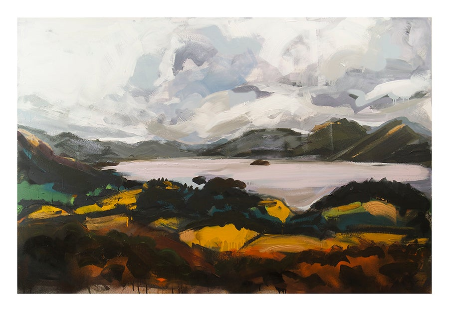 "Image of Derwentwater from Castlehead Woods - Limited Edition Giclée Print - 26"" x 18"""
