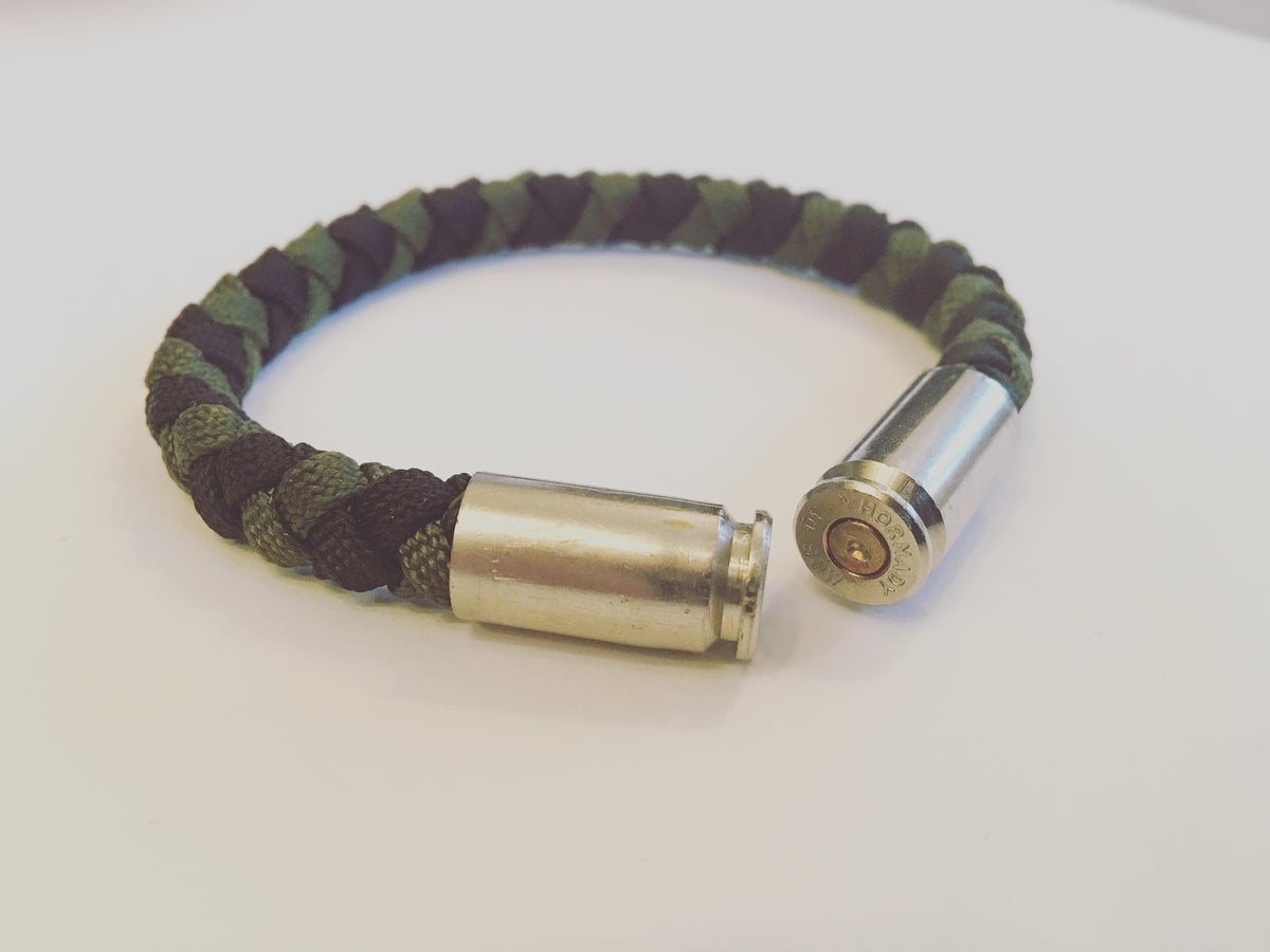 Image of KMP 'BULLETZ' 40 s&w Bracelet (Green/Black)