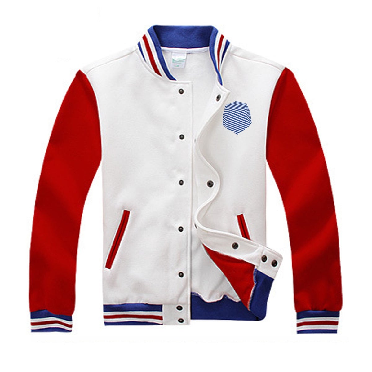 Image of GU2I Casual Cotton Varsity Jacket