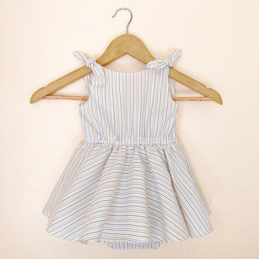Image of Mini Rainbow Picnic Dress