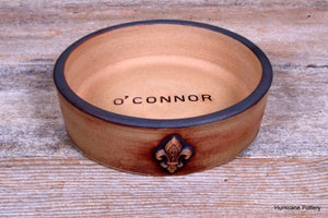 Image of Personalized Ceramic Wine Bottle Coaster with Stained Finish