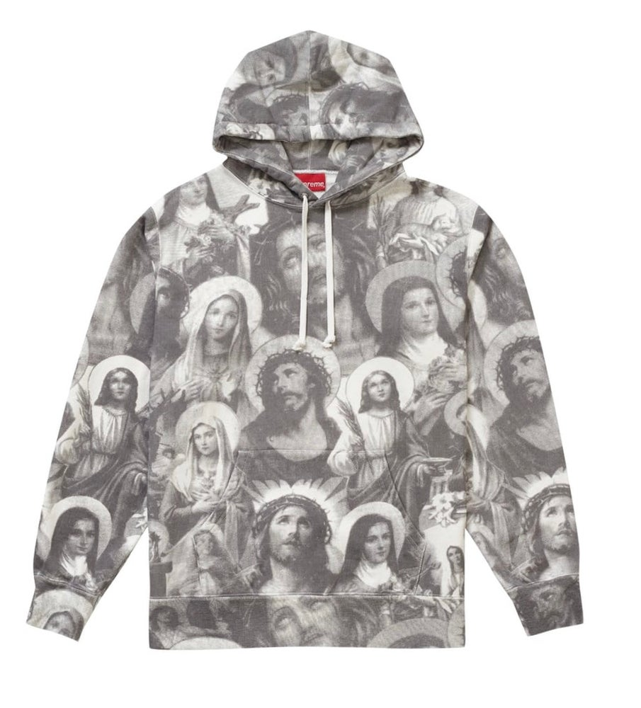 Image of Supreme Hoody - Jesus and Mary - Size Medium