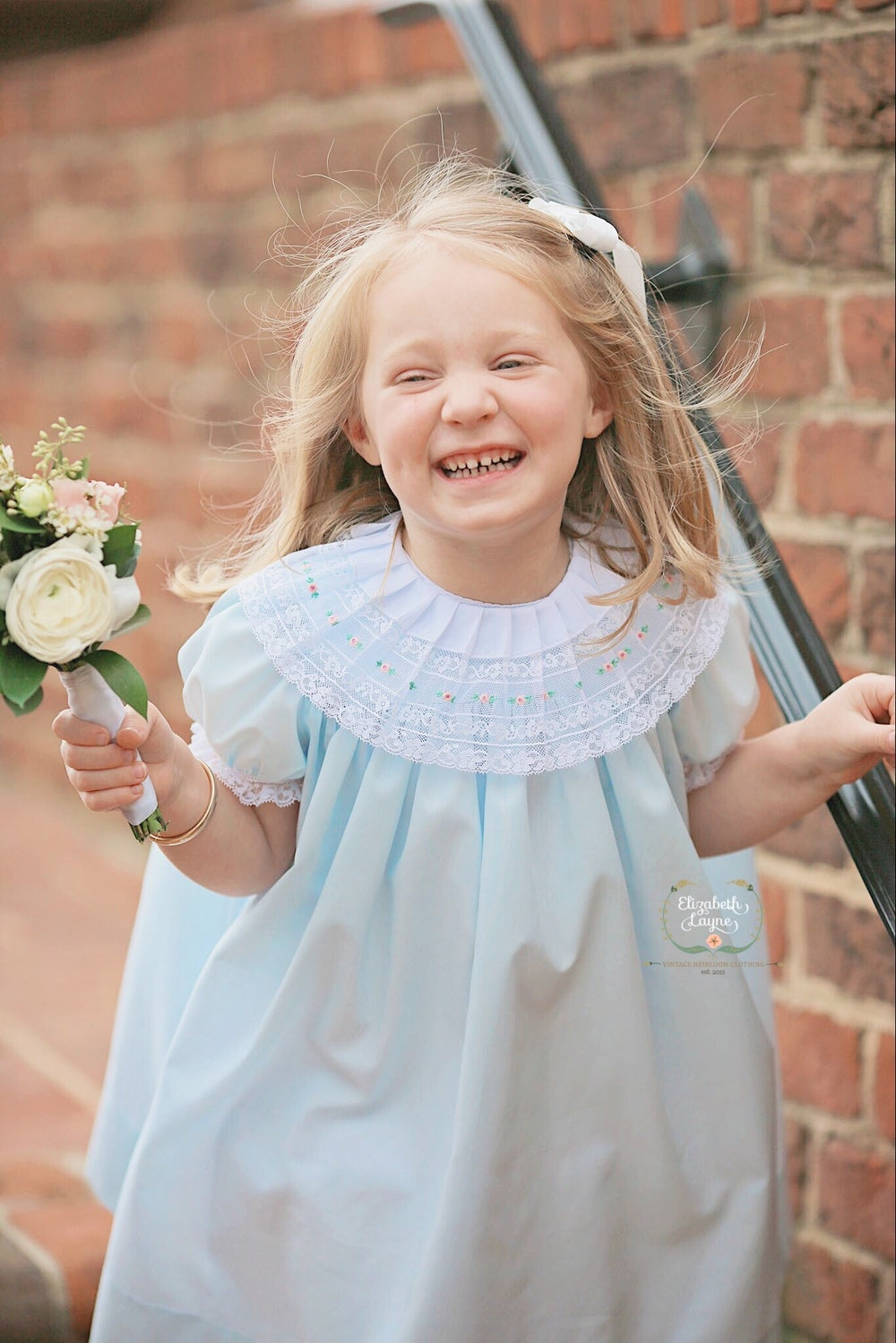 Image of Kensington English Bud Portrait Dress & Bubble