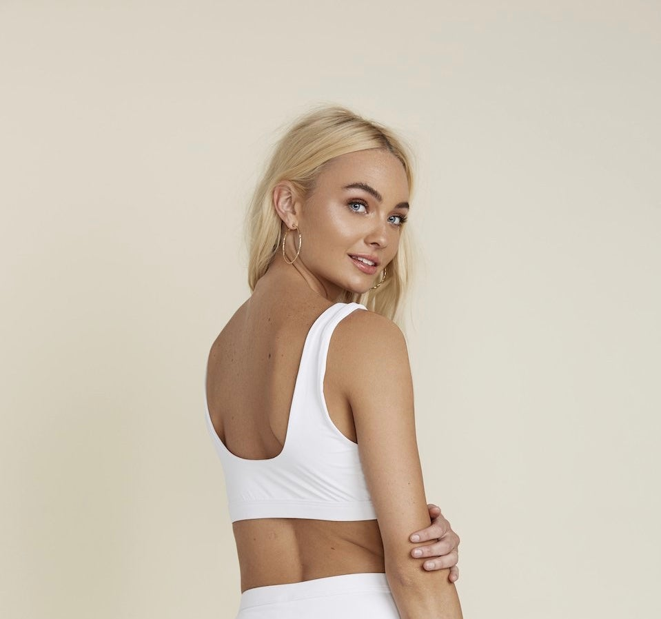Image of White Seamless Sports Top