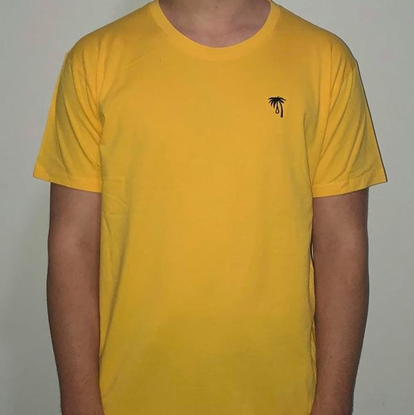 Image of Palm Embroidered Tee (Gold)