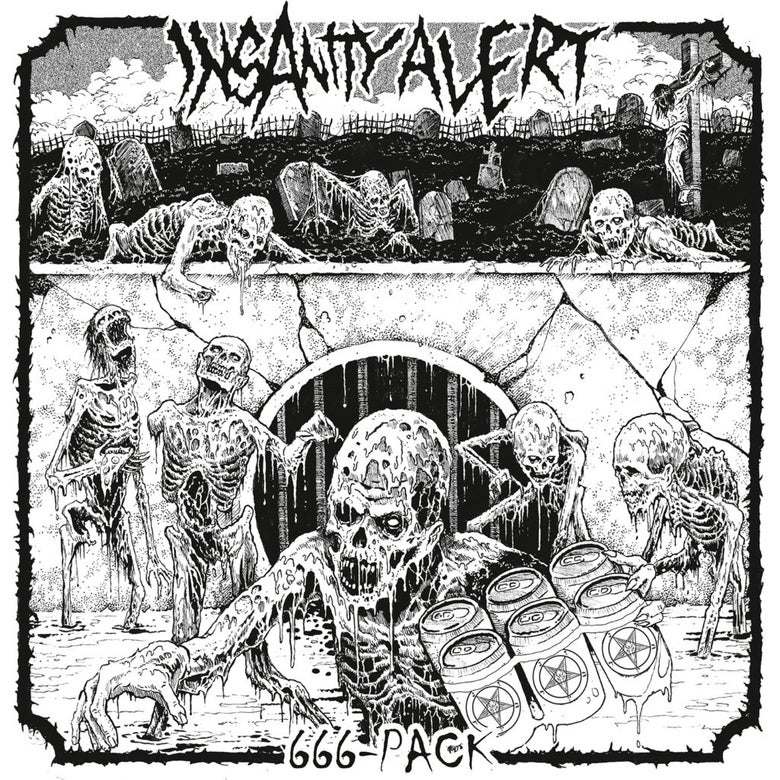 Image of Insanity Alert - 666 Pack LP (Clear vinyl!)