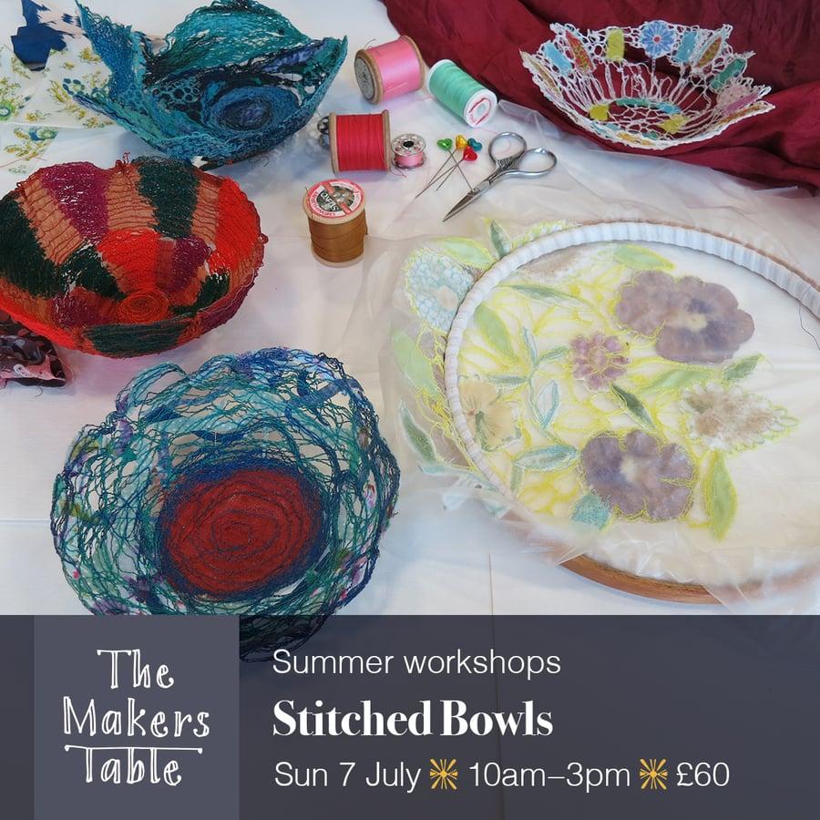 Image of Stitched Bowls Workshop