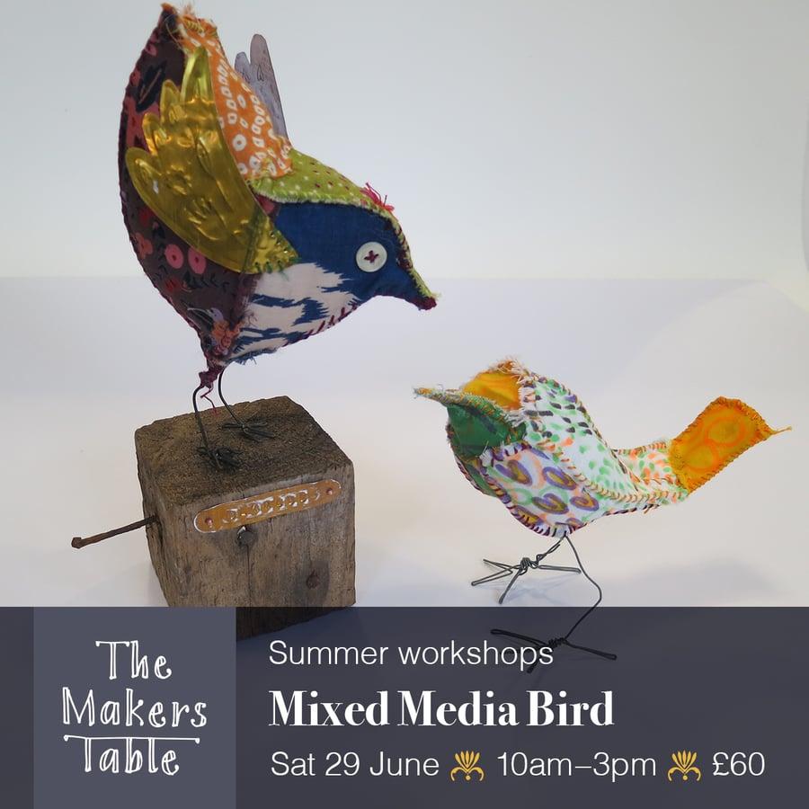 Image of Mixed Media Bird Workshop I