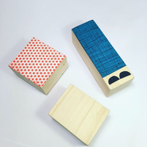 Image of Stackable Wooden Figure - Mix and Match Mister