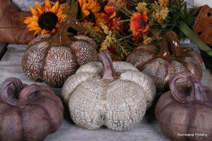 Image of Fall Ceramic Sculpted Pumpkin -Made to Order- for your Thanksgiving Centerpiece