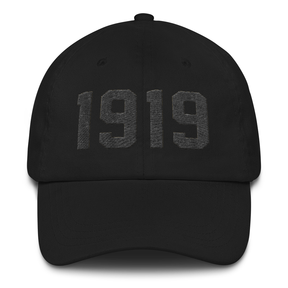 Image of 1919 Dad Hat Black