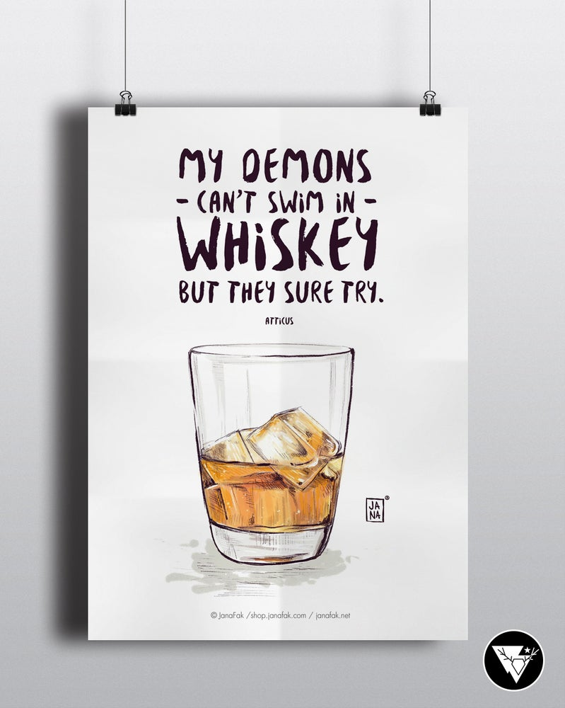 Image of Demons and whiskey / art print