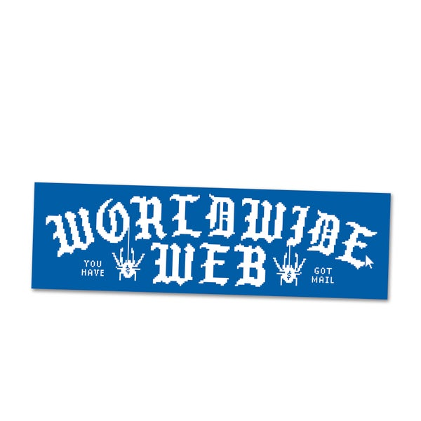 Image of Worldwide Web Bumper Sticker, Loren Purcell