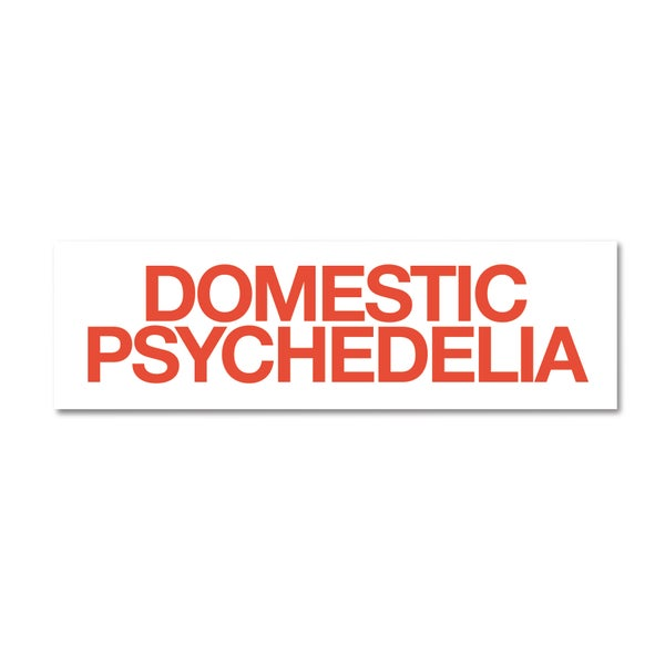Image of Domestic Psychedelia Bumper Sticker, Eric Timothy Carlson