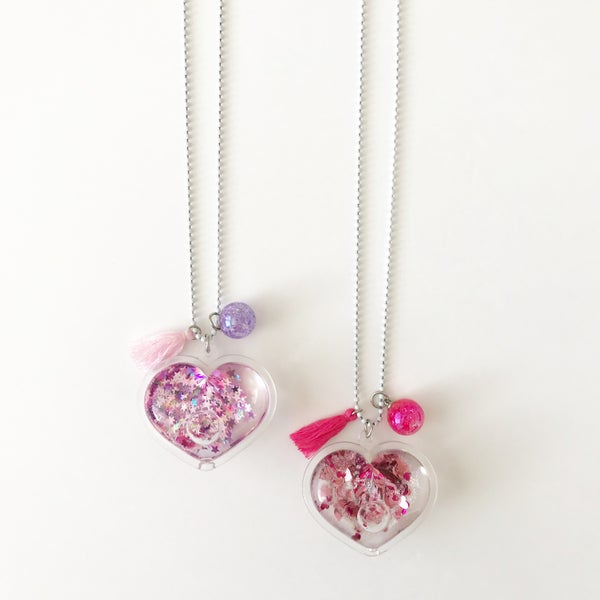 Image of Confetti Heart Shaker Necklace