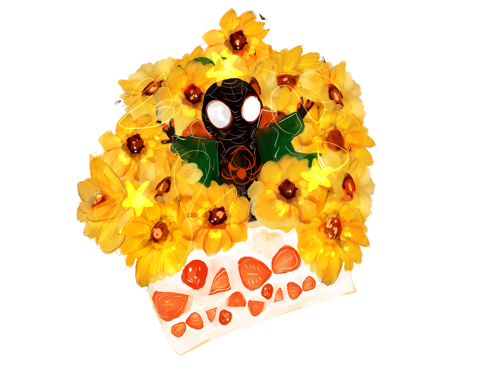 Image of you're a sunflower - miles morales charm -
