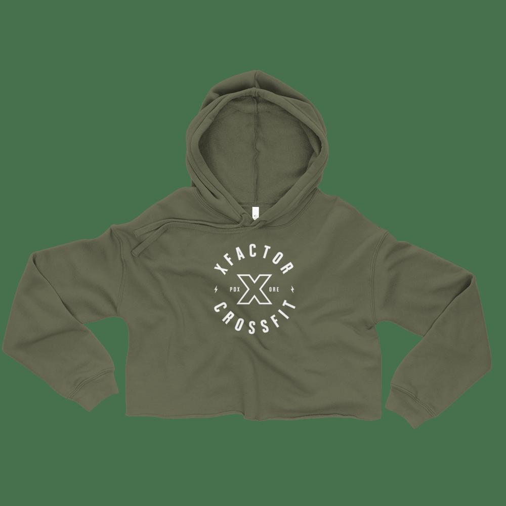 Image of Crop Hoodie F/W 18 - Military Green