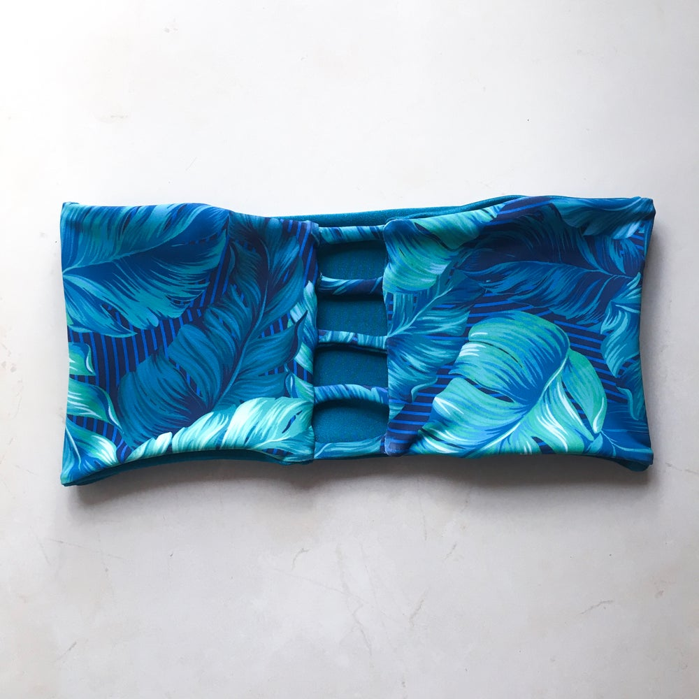 Image of 5BANDS BANDEAU : ISLAND BLUES X TEAL