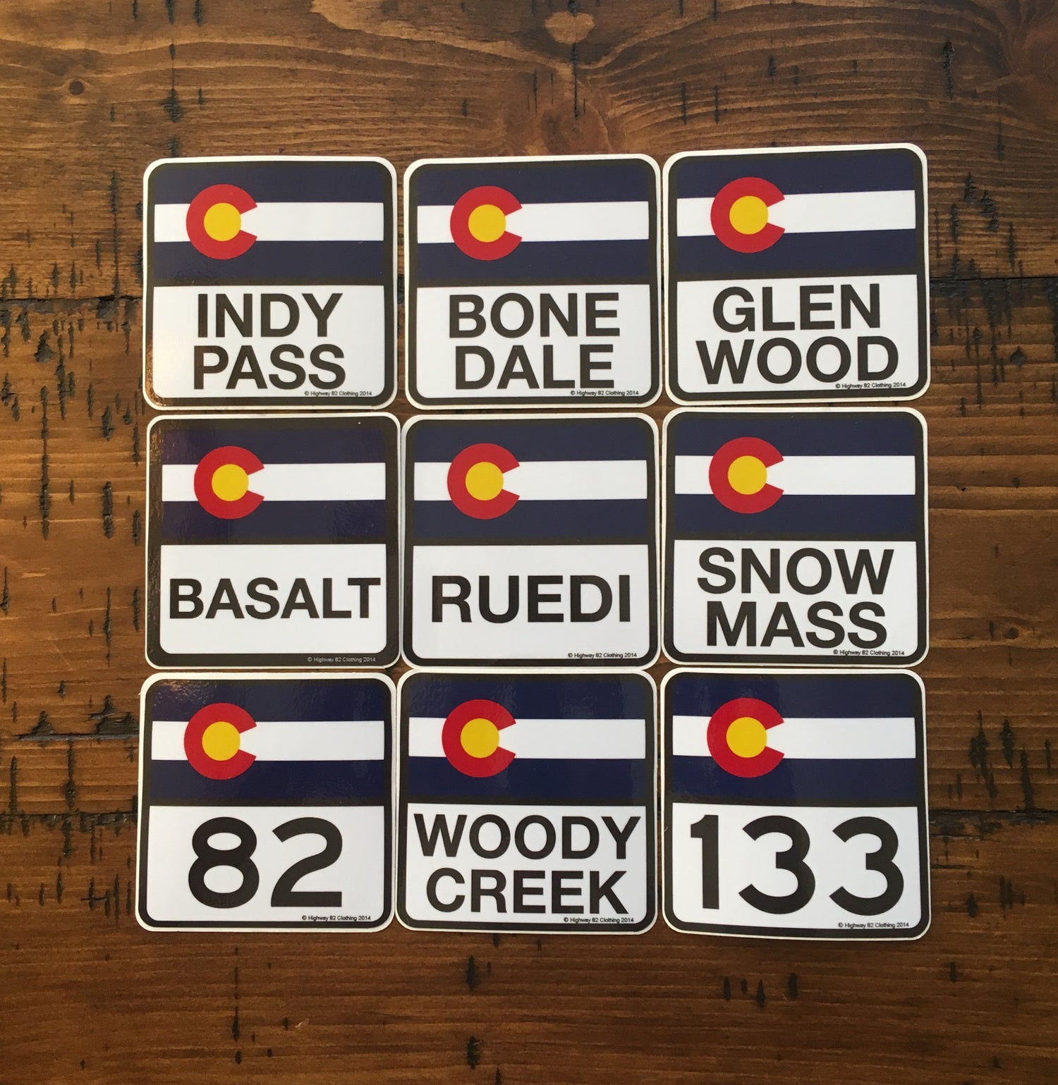 Image of Mountain Town Stickers
