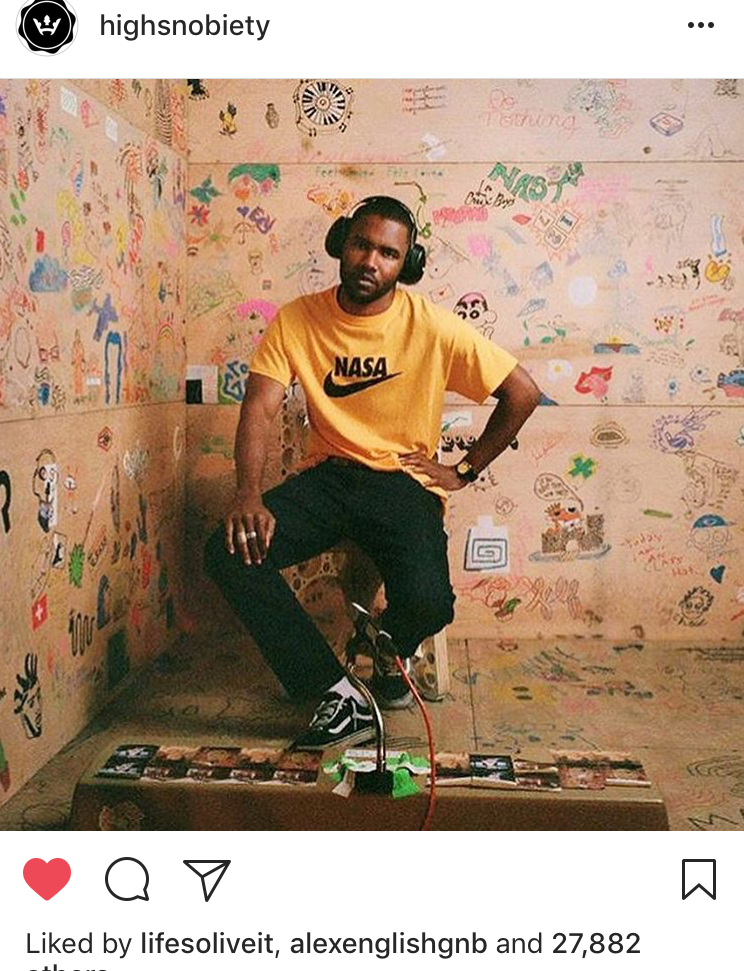 Image of NASA swoosh TEE by Dj Scotto (FRANK OCEAN in iD)