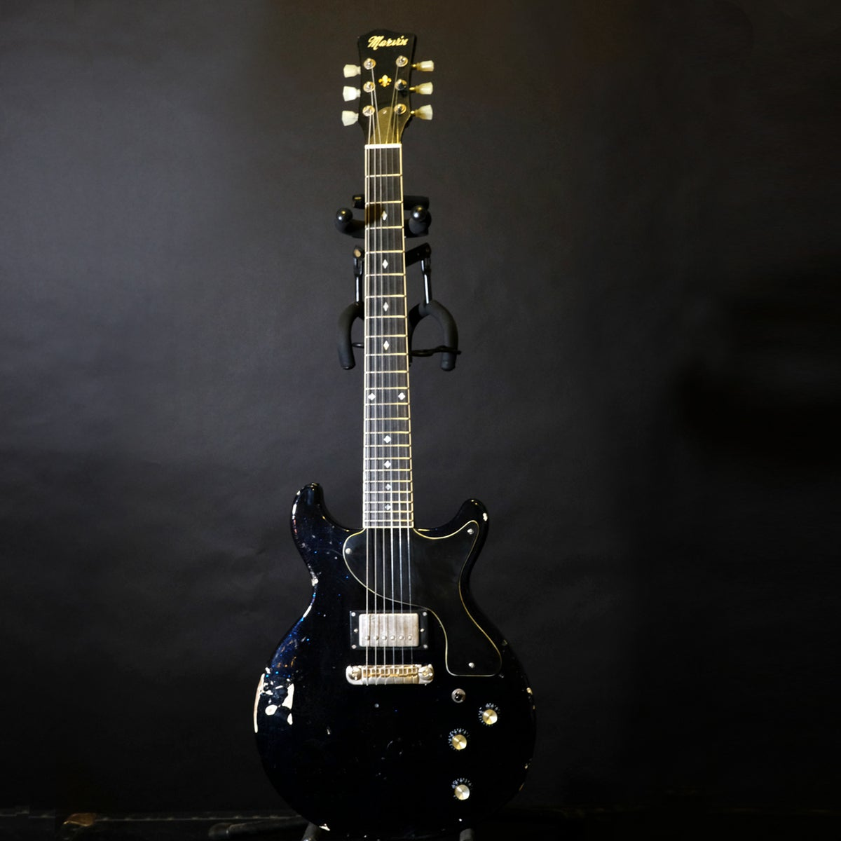 Image of Acey Slade Thunder Jet Guitar in Futuristic Black/Brunswick Blue
