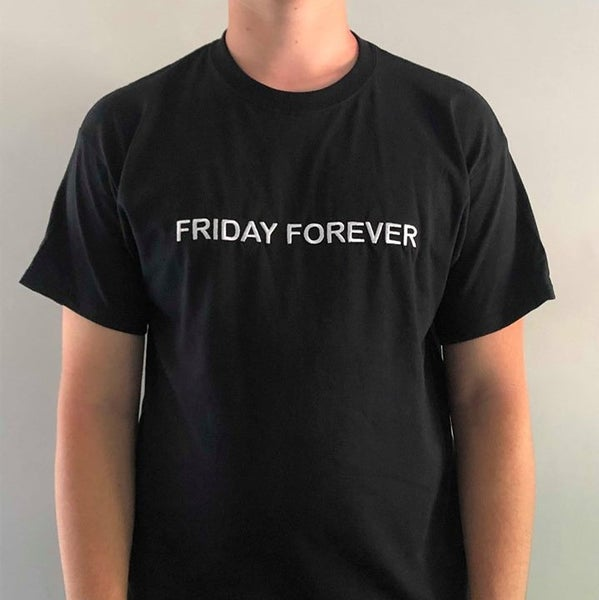 Image of Friday Forever Embroidered Tee (Black)