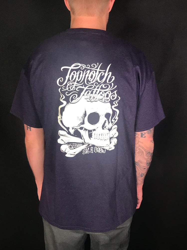 Image of Purple Skull Logo Tee (white)