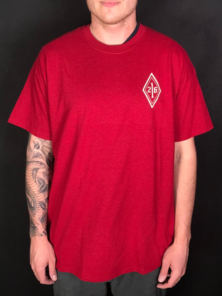 Image of Red Skull Logo Tee (white)