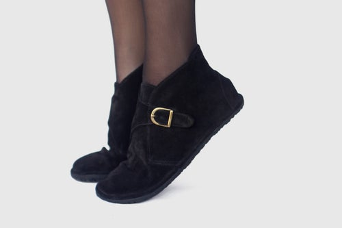 Image of Mono - Monk Boots in Black Suede