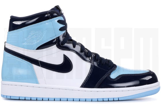 "Image of Nike AIR JORDAN 1 RETRO HIGH OG ""BLUE CHILL"""