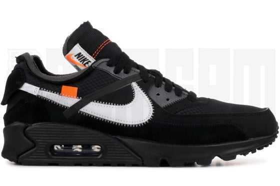 "Image of Nike AIR MAX 90 ""OFF WHITE"" BLACK"