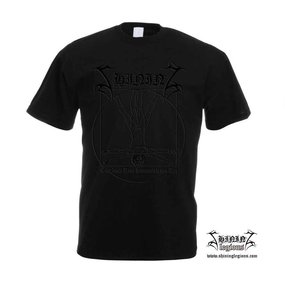 "Image of SHINING ""Antihuman"" BlackOnBlack T-SHIRT"