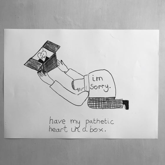 Image of 'Pathetic Heart' A3 print