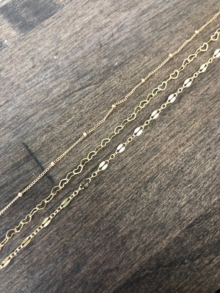 Image of Gold Filled Open Heart Choker