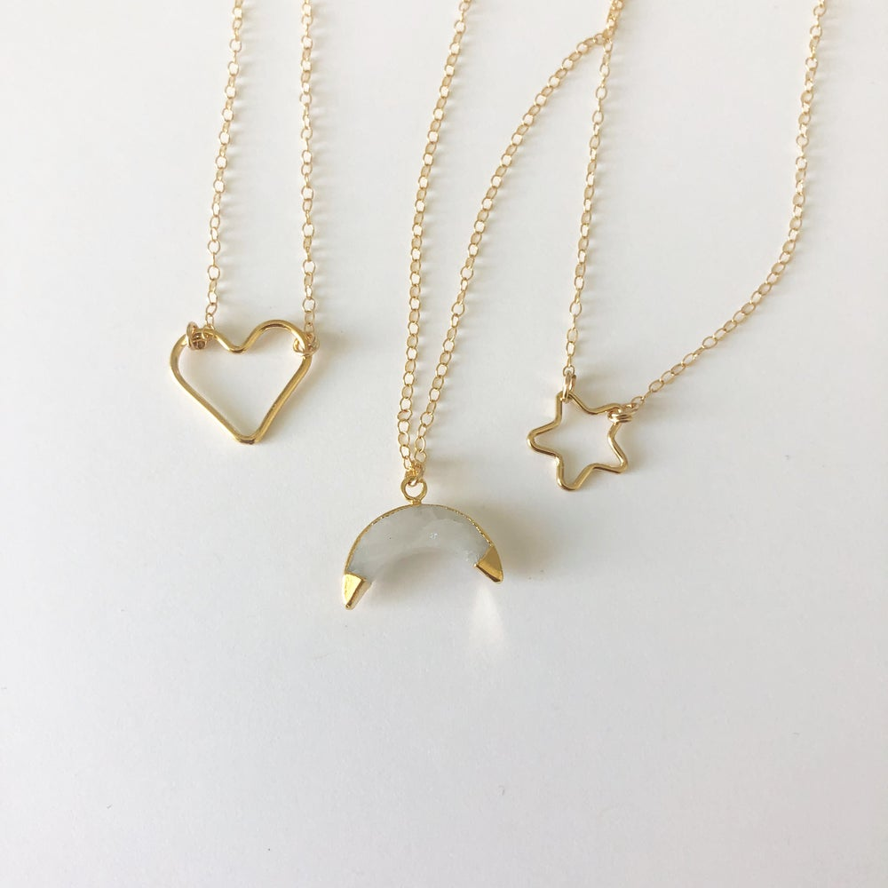 Image of Gold Filled Open Heart necklace