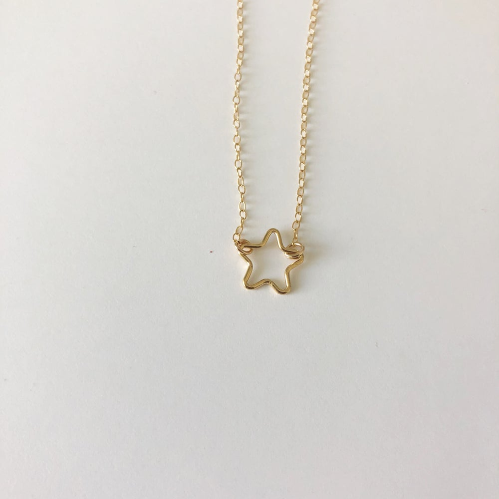 Image of Gold filled Star Necklace