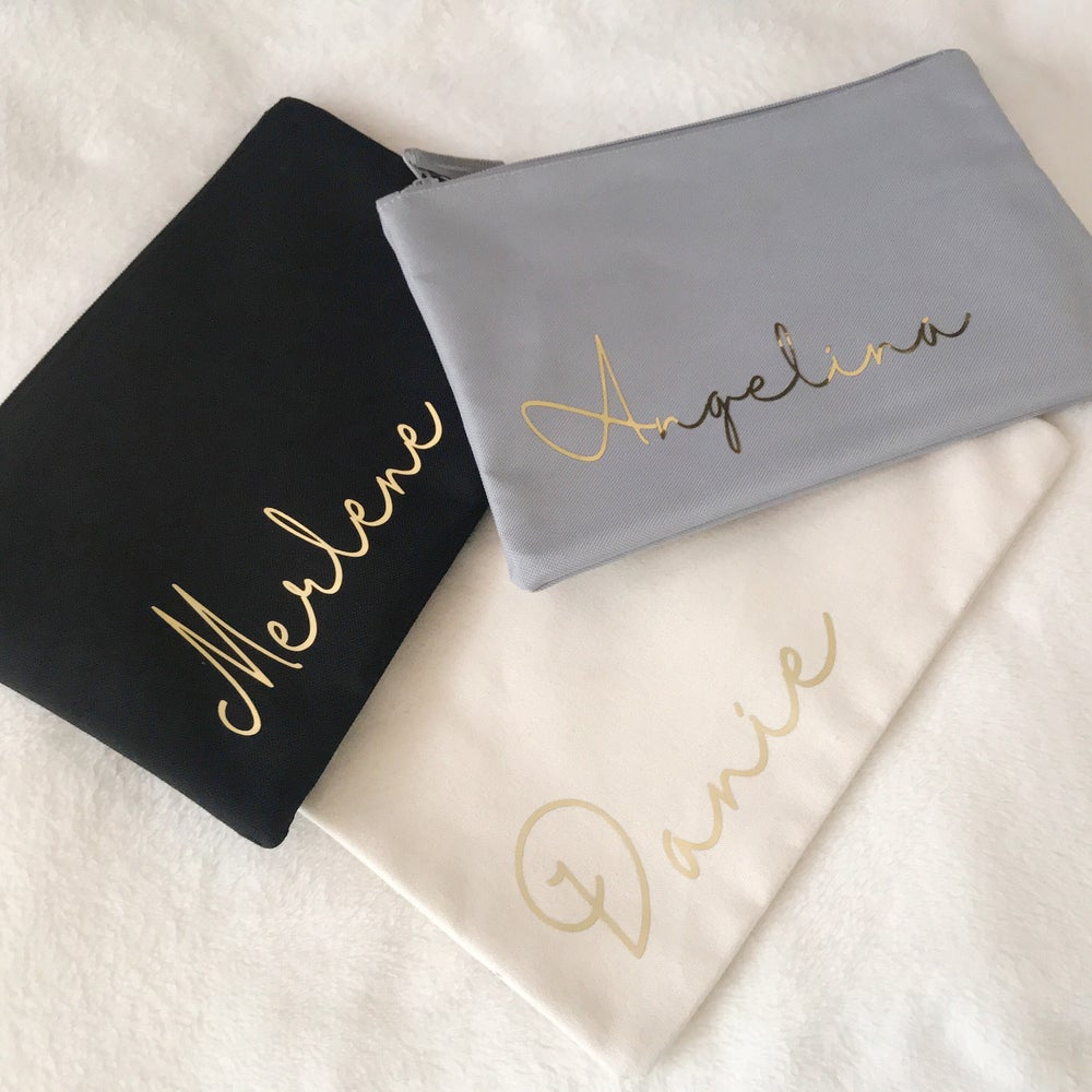 Image of PERSONALISED MAKE-UP/TOILETRY BAG