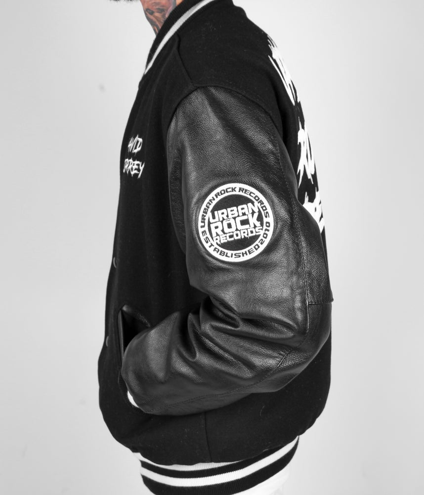 Image of David Correy's Official Letterman Jacket White/Black