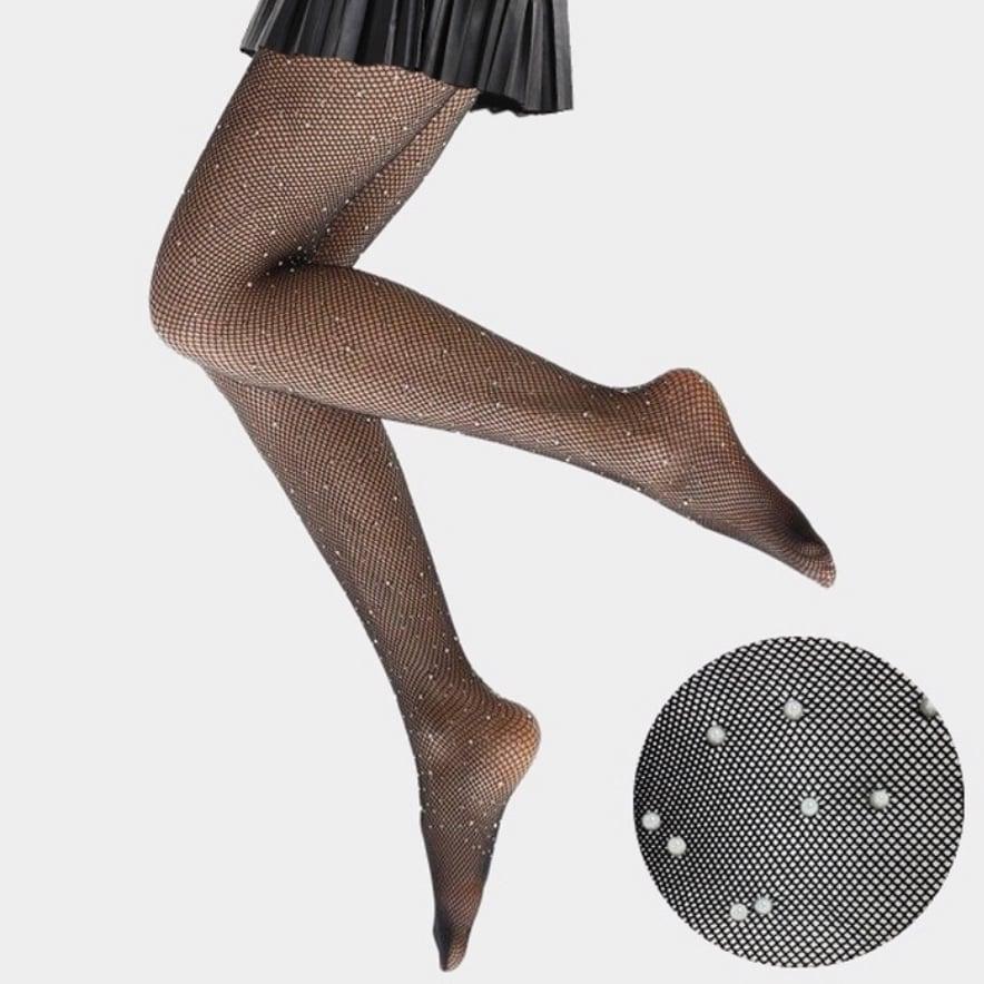 "Image of ""Pearl"" Fishnet Pantyhose"