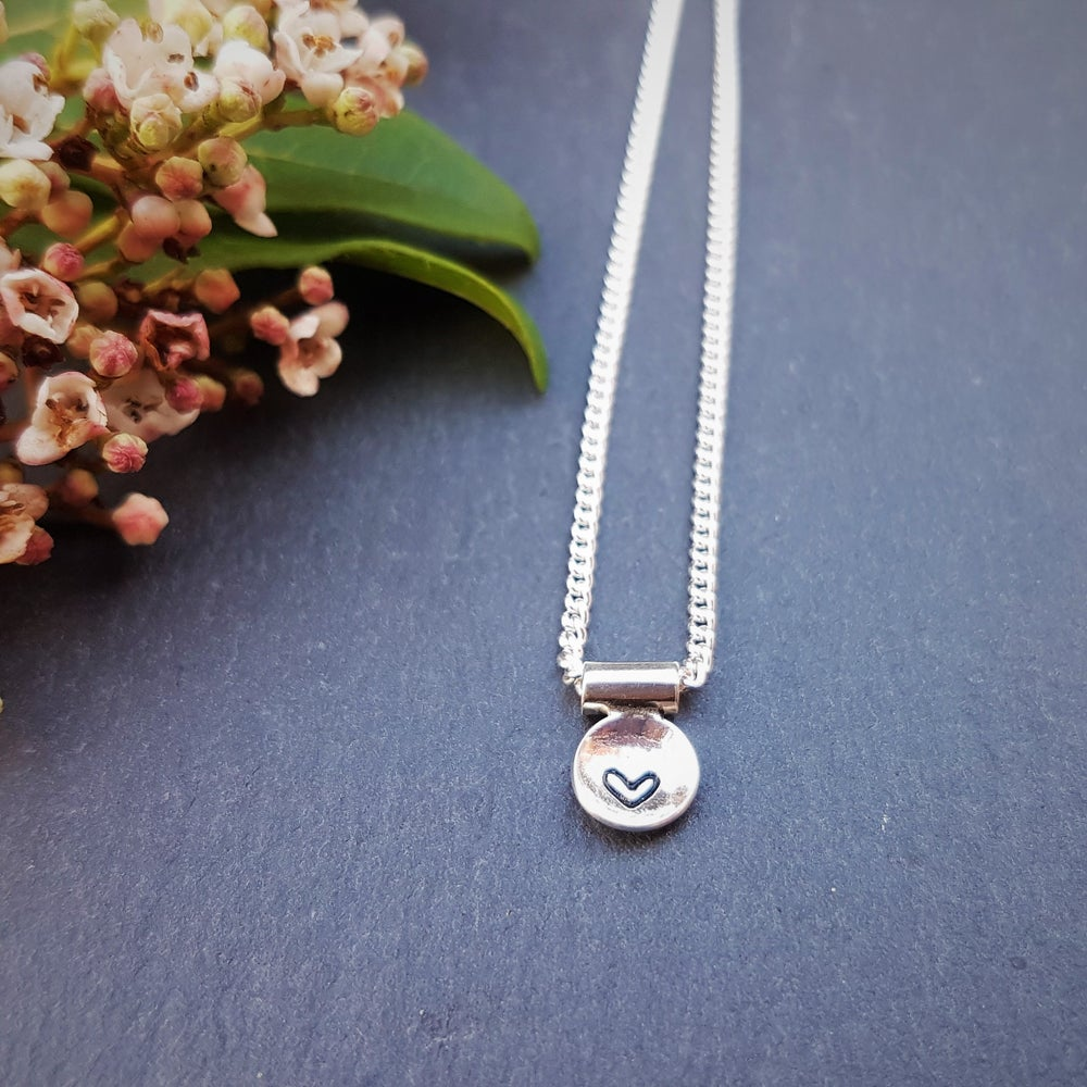 Image of Tiny Heart Silver Necklace