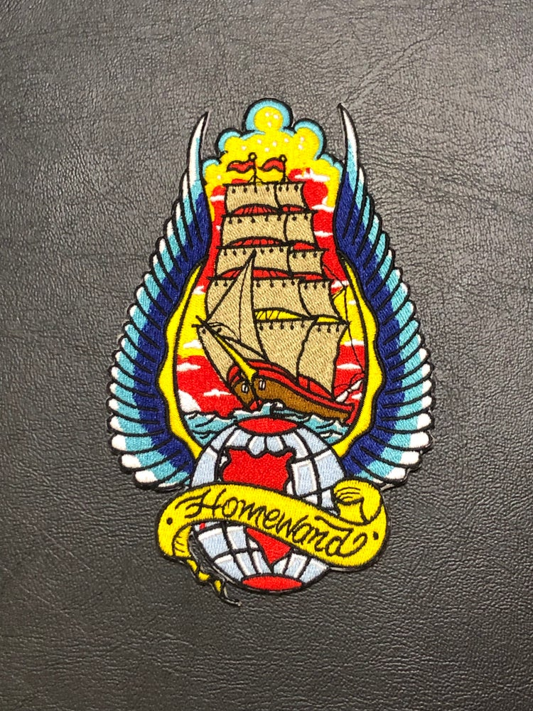 "Image of 6"" Traditional Tallship Iron On Patch"