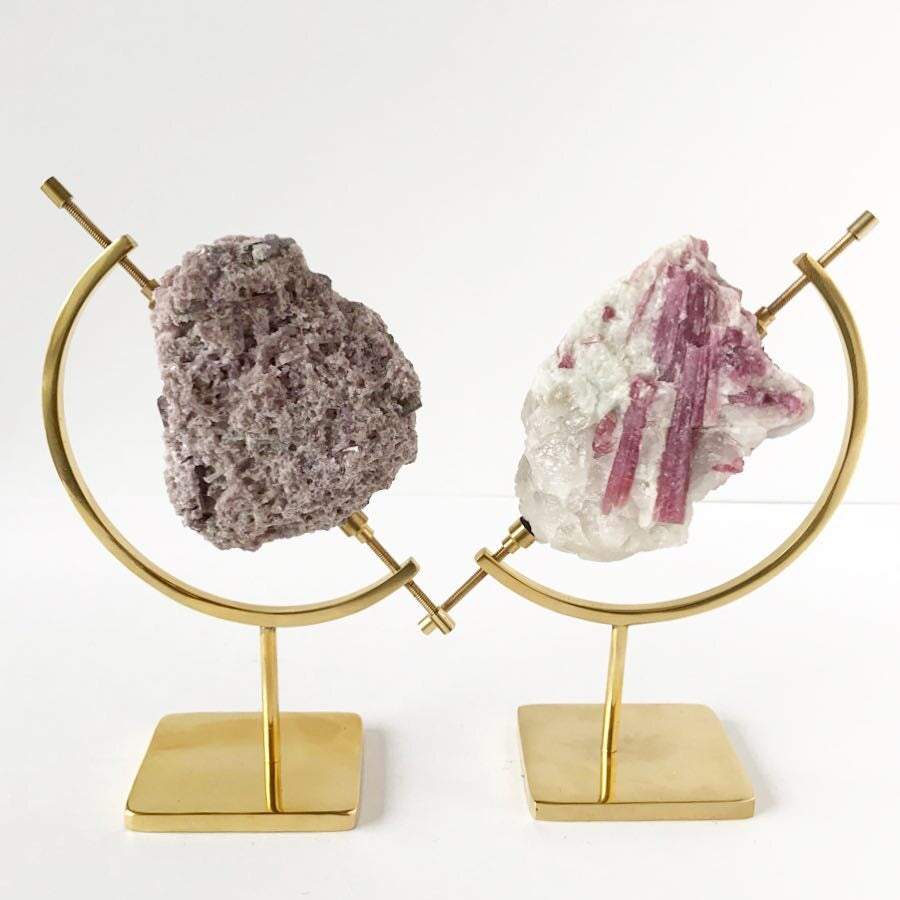 Image of Pink Tourmaline no.04 Aphrodite Collection Brass Pairing
