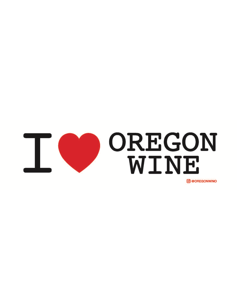 Image of I (heart) Oregon Wine sticker #1
