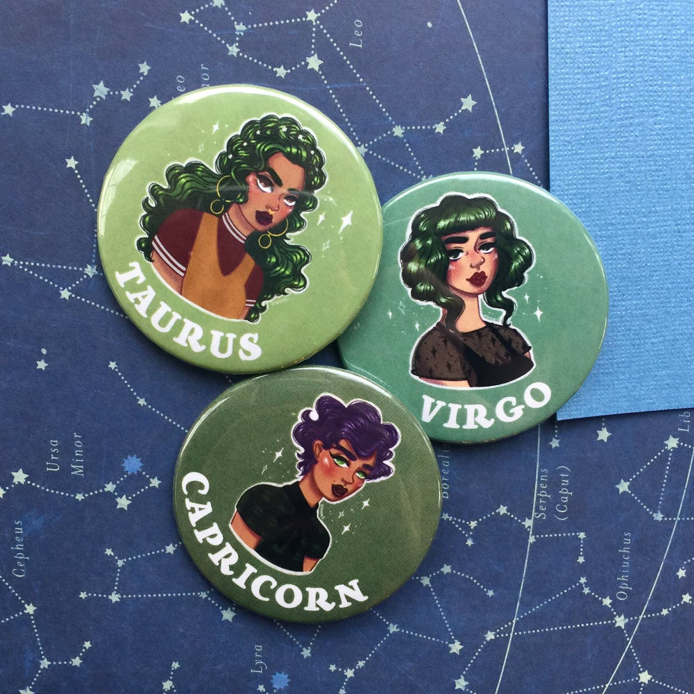 Image of PULP ASTROLOGY BUTTON & STICKER
