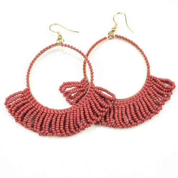 Image of Seed Bead Hoops